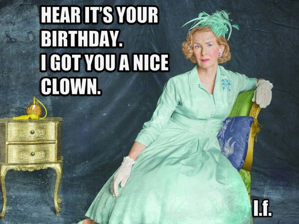 happy birthday clown meme ; funny-sister-happy-birthday-meme