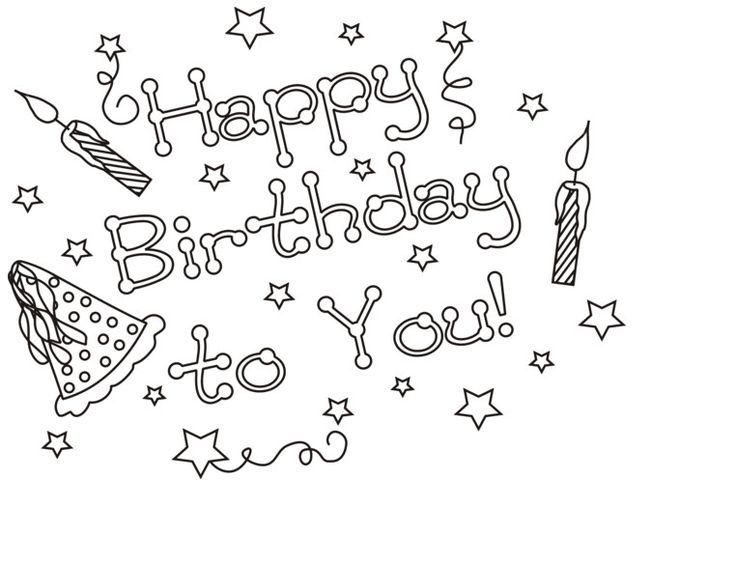 happy birthday coloring pages for girls ; 849b7e7e4e5988904457b004590701f3--birthday-coloring-pages-coloring-book