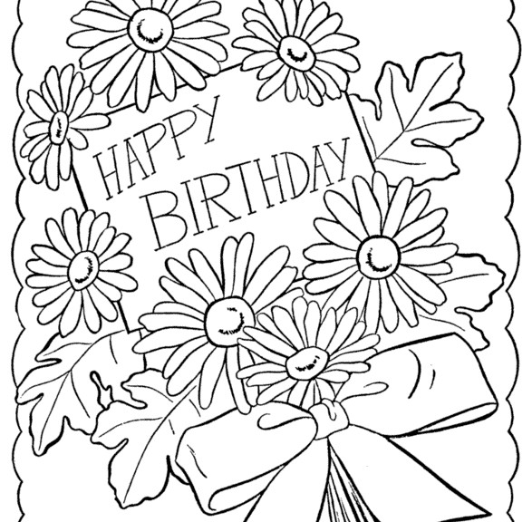 happy birthday coloring pages for girls ; Happy-Birthday-Coloring-Cards-Printable-587x576