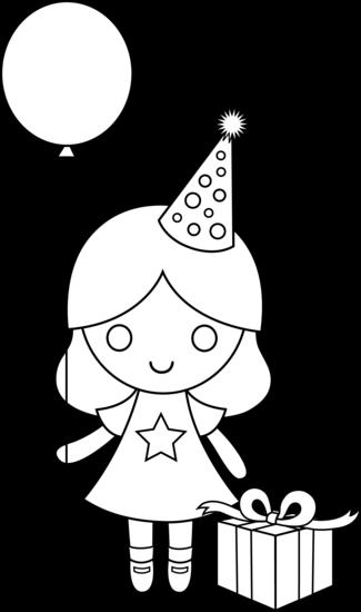 happy birthday coloring pages for girls ; happy-birthday-line-drawing-43