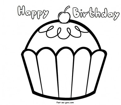 happy birthday coloring pages for girls ; print-out-happy-birthday-muffin-cupcake-coloring-pages_1614644758