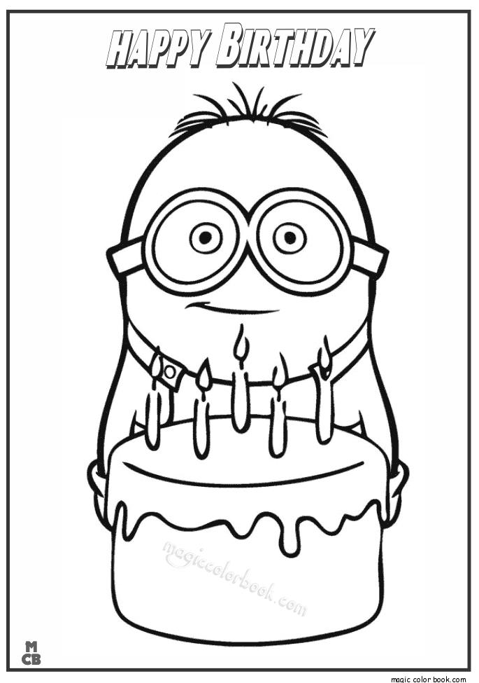 happy birthday coloring pictures ; Minion-happy-birthday-coloring-page