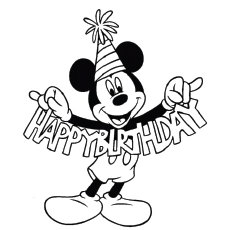 happy birthday coloring pictures ; The-Mickey-Wishes-Happy-Birthday