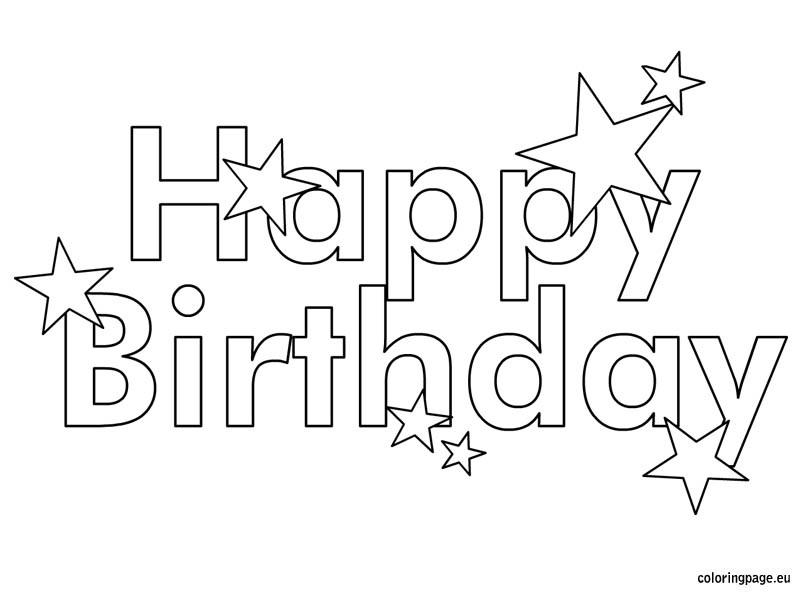 60 Best Free Printable Happy Birthday Coloring Sheets, Stickers ... | 595x804