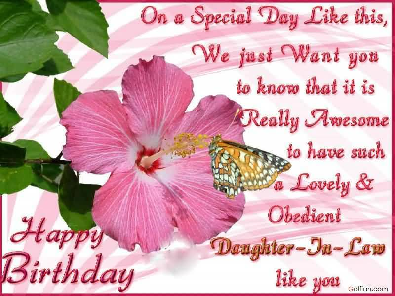 happy birthday daughter in law images ; Nice-Flower-With-Butterfly-E-Card-Birthday-Wishes-For-Daughter-In-Law