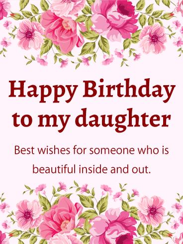 happy birthday daughter pictures free ; birthday-greeting-cards-for-daughter-pink-flower-happy-birthday-card-for-daughter-birthday-greeting-free