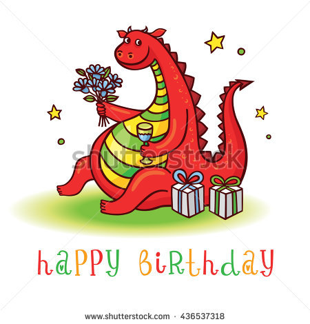 happy birthday dragon ; stock-vector-dragon-playful-card-with-funny-dragon-at-birthday-party-happy-birthday-invitation-postcard-with-436537318