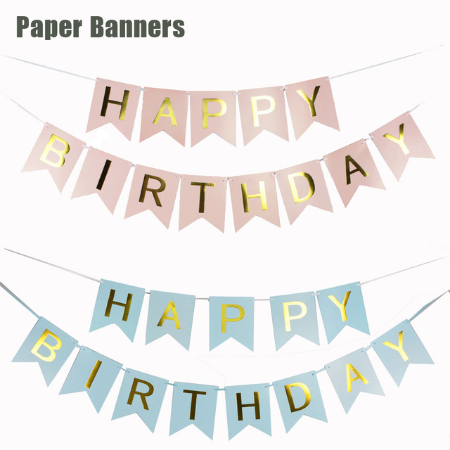 happy birthday flag banner ; 1Set-250cm-Pink-Green-White-Blue-Happy-Birthday-Flag-Banner-For-Party-Decoration-Baby-Shower-Hanging