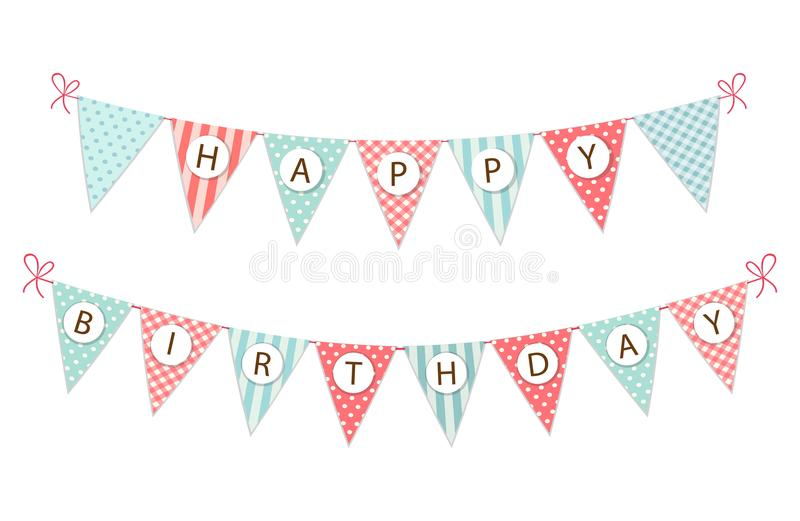 happy birthday flag banner ; cute-vintage-festive-fabric-pennant-banner-as-bunting-flags-letters-happy-birthday-shabby-chic-style-your-decoration-107424817