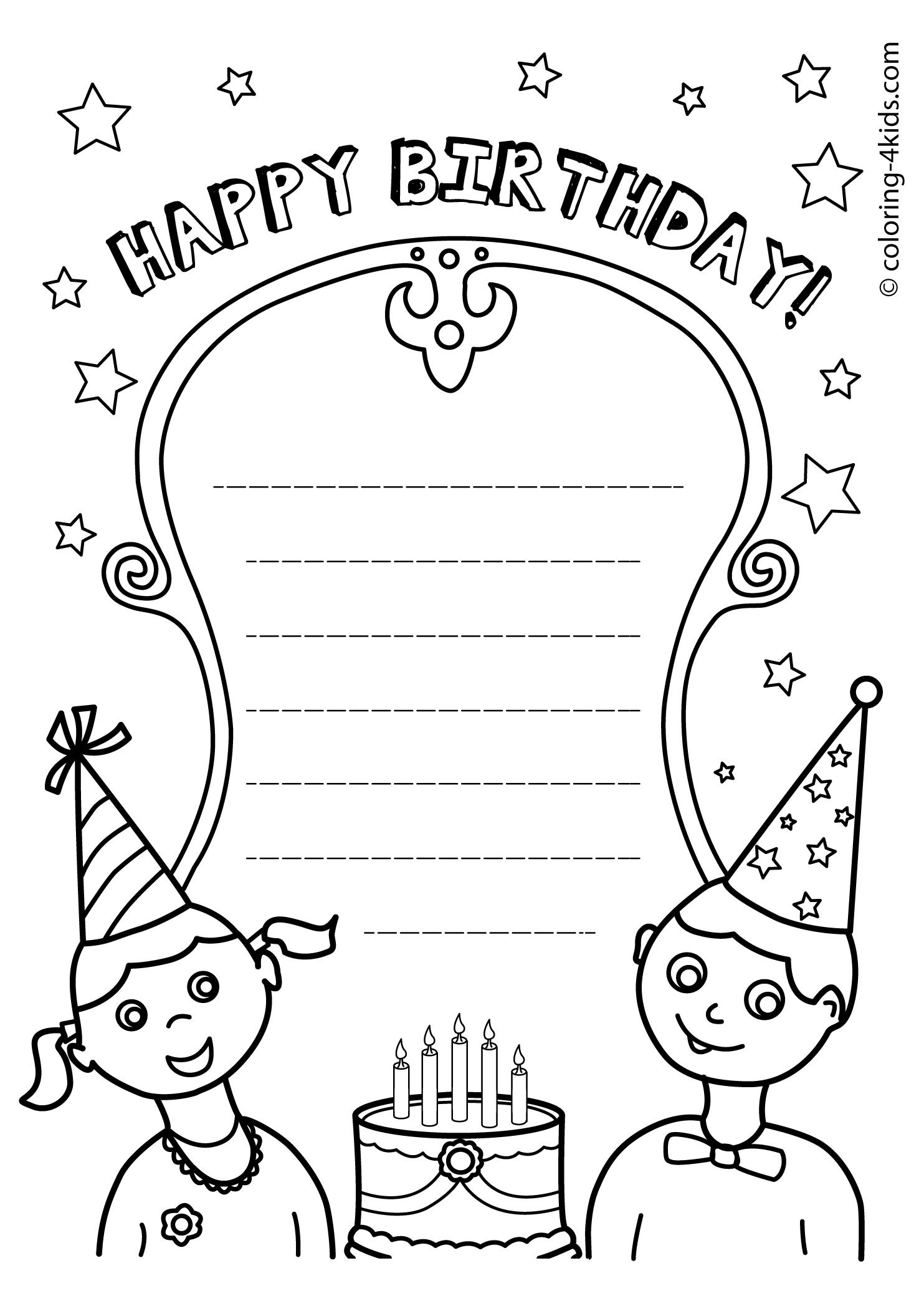happy birthday free printable coloring pages ; complete-happy-birthday-aunt-coloring-pages-printables
