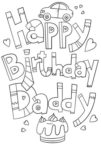 happy birthday free printable coloring pages ; happy-birthday-daddy-doodle-coloring-page