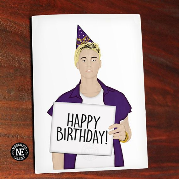 happy birthday from justin bieber card ; cb9a02cd8d529371d568e468bcadf785