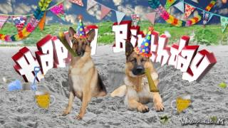 happy birthday german shepherd greeting ; mqdefault