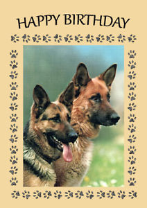 happy birthday german shepherd greeting ; s-l300-1