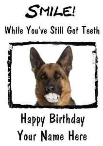 happy birthday german shepherd greeting ; s-l300