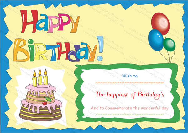 happy birthday gift card ; Birthday-Gift-Card-Templates