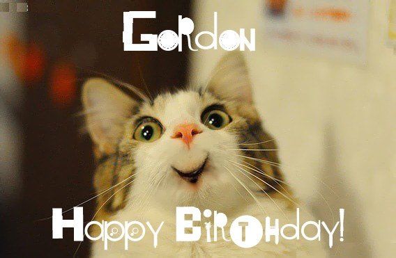 happy birthday gordon ; 9933