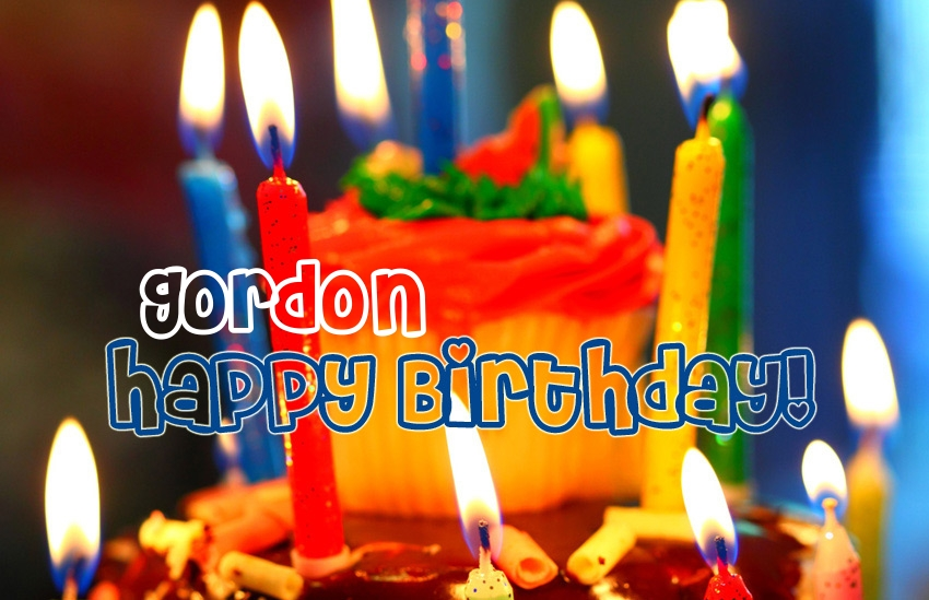 happy birthday gordon ; name_3525