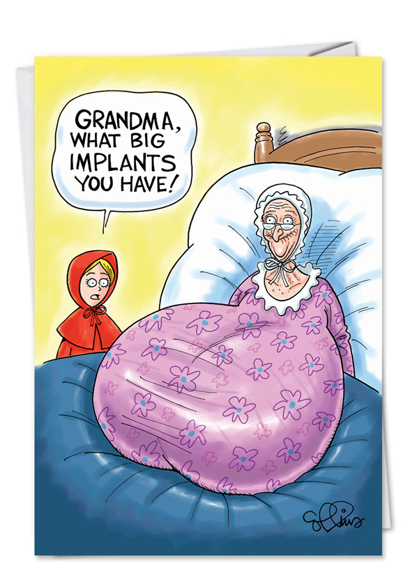 happy birthday grandma funny ; grandmas-big-implants-card-19