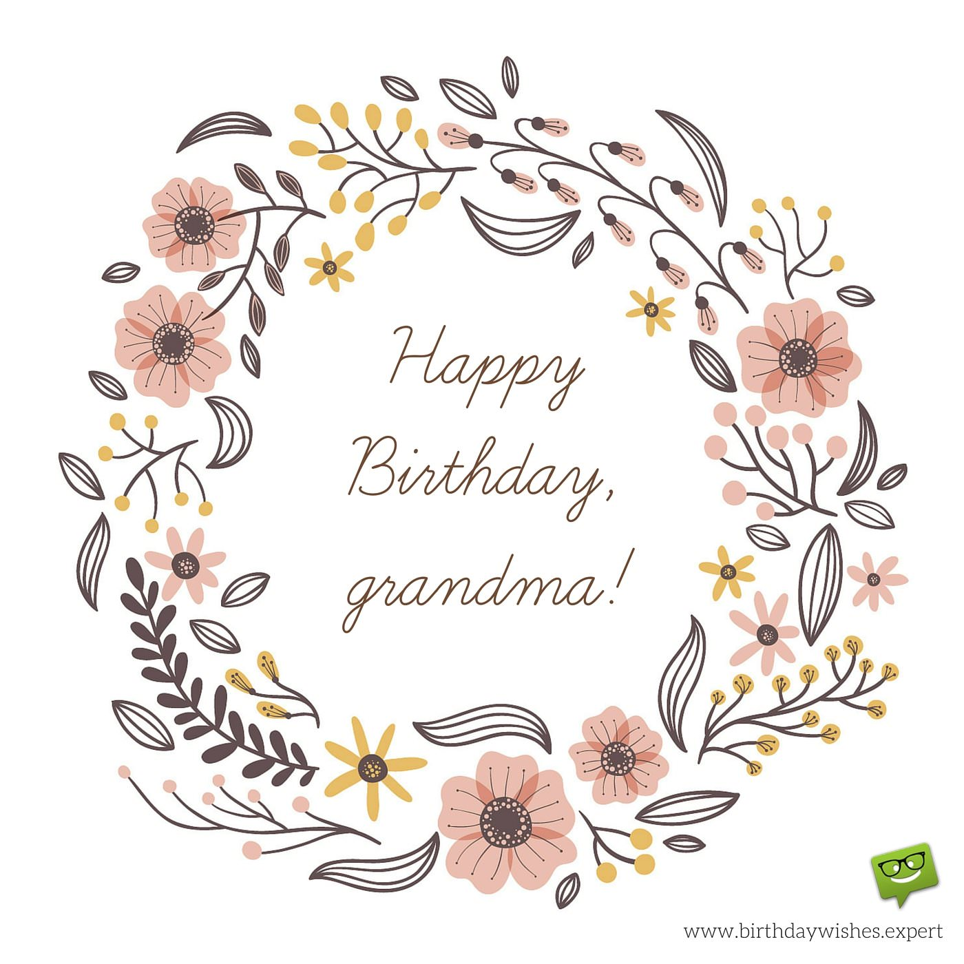 happy birthday granny ; Happy-Birthday-Grandma-On-image-with-hand-drawn-flowers