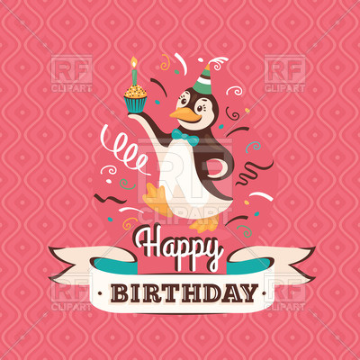 happy birthday graphics free ; happy-birthday-greeting-card-with-penguin-holding-cupcake-Download-Royalty-free-Vector-File-EPS-129691