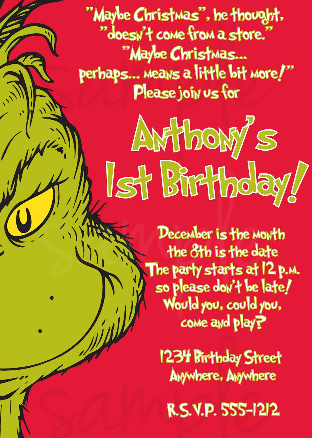 happy birthday grinch ; 7895a2804bed4300af1e52f9d53f4a1e