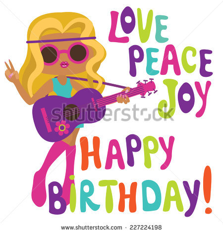 happy birthday groovy ; stock-vector-happy-birthday-card-with-hippie-girl-musician-227224198