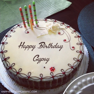 happy birthday gypsy ; candles-decorated-happy-birthday-cake-for-Gypsy