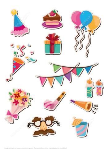 happy birthday hat printable ; printable-stickers-for-happy-birthday-party-paper-craft
