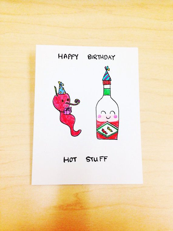 happy birthday hot stuff card ; 7651adfebcf393038d3a7545446d2bfe