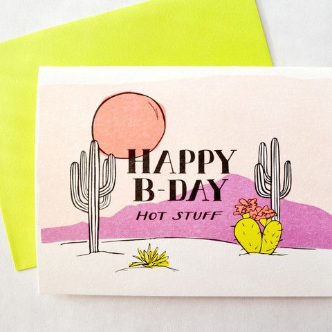 happy birthday hot stuff card ; f59065c2568112ceec3363075fcbf2b2