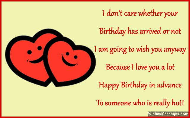 happy birthday in advance greeting cards ; Romantic-early-birthday-greeting-card-message