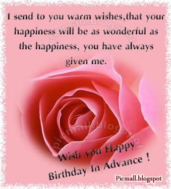 happy birthday in advance greeting cards ; p-advn04