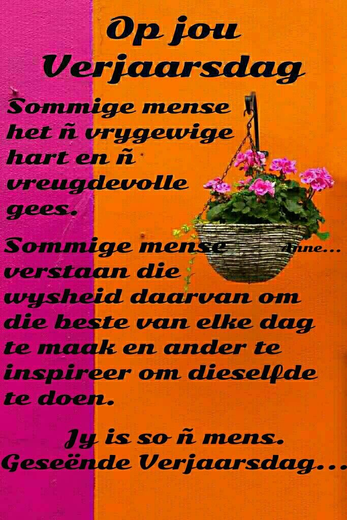 happy birthday in afrikaans ; 57c91406691cd75d3551aad23e22a62a