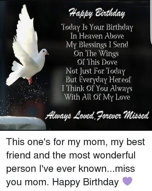 happy birthday in heaven friend ; birthday-today-is-your-birthday-in-heaven-above-my-blessings-4195510