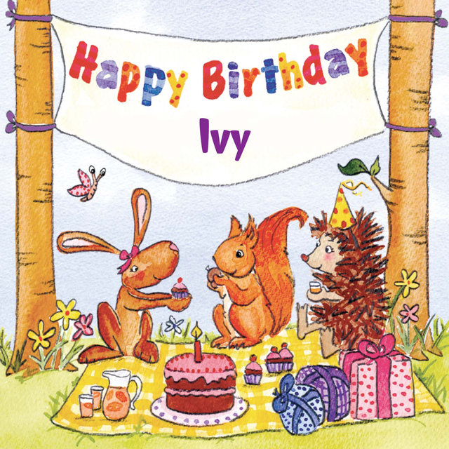 happy birthday ivy ; 640x640