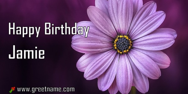 happy birthday jamie ; Happy-Birthday-Jamie-Flower-Purple