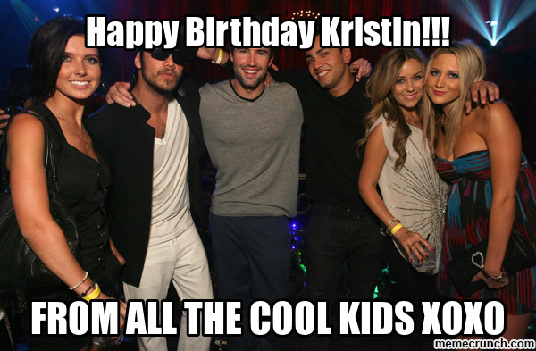 happy birthday kristen meme ; image