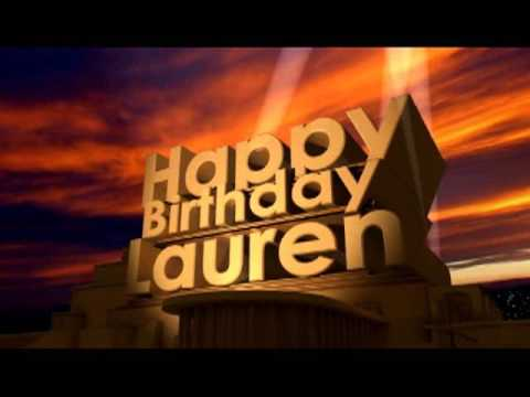happy birthday lauren ; hqdefault