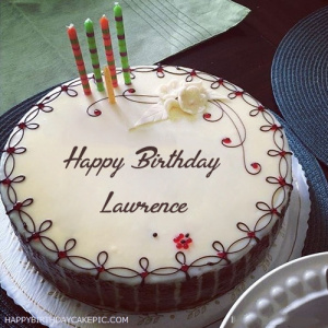 happy birthday lawrence ; candles-decorated-happy-birthday-cake-for-Lawrence