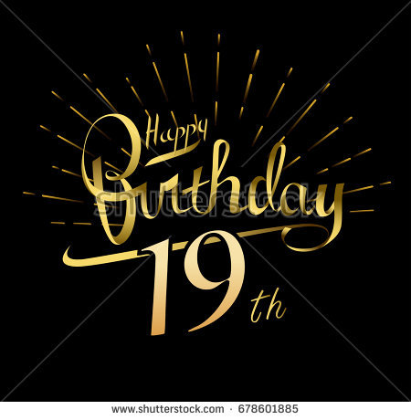 happy birthday logo design ; stock-vector--th-happy-birthday-logo-beautiful-greeting-card-poster-with-calligraphy-word-gold-fireworks-hand-678601885