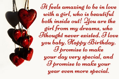 happy birthday love message to my girlfriend ; Messages-for-girlfriend-love