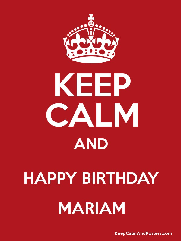 happy birthday mariam ; 8175960