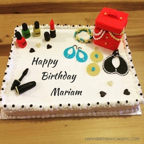 happy birthday mariam ; cosmetics-happy-birthday-cake-for-Mariam