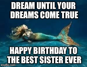 happy birthday mermaid meme ; 1natv4