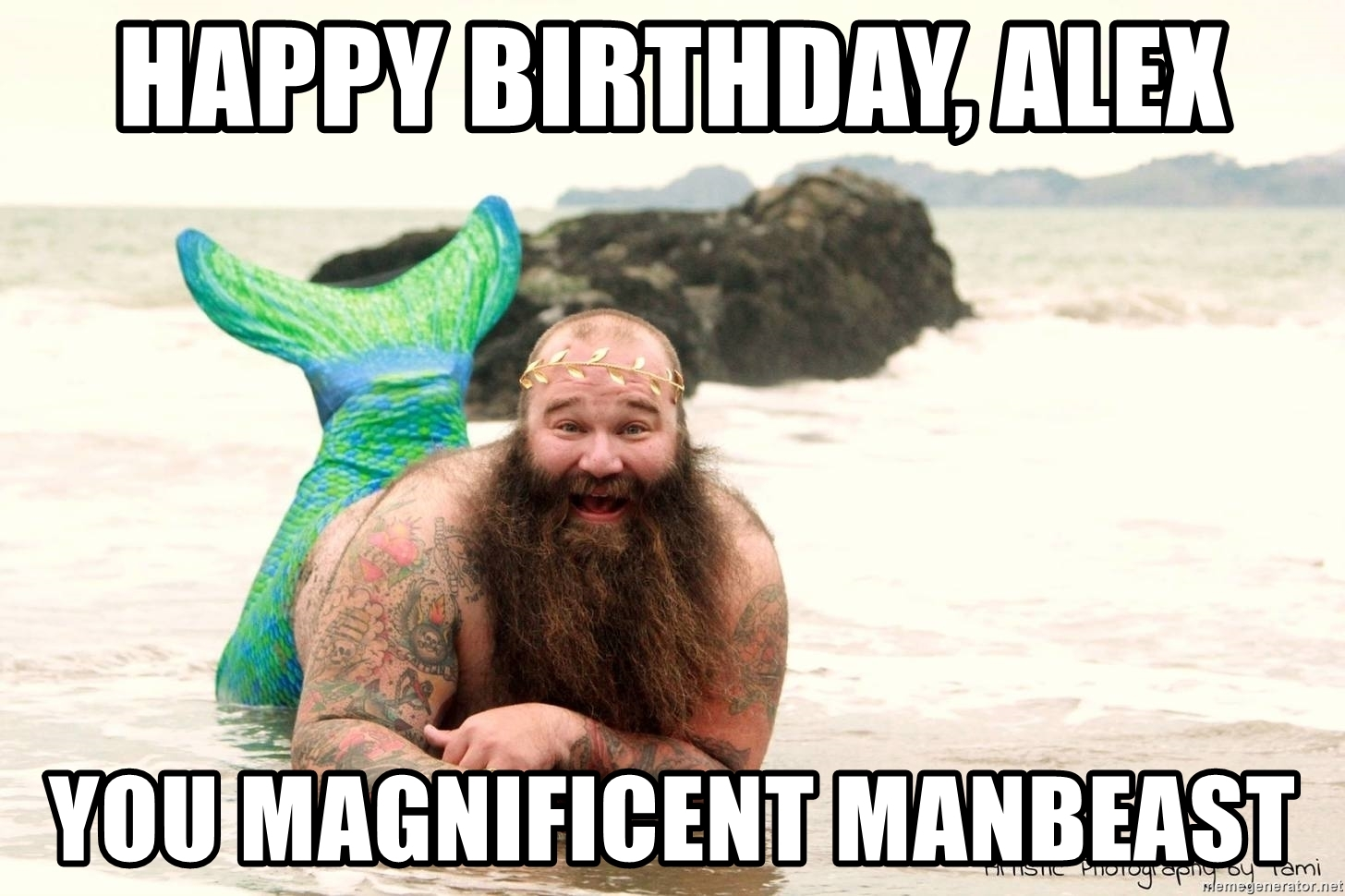 happy birthday mermaid meme ; 71411452
