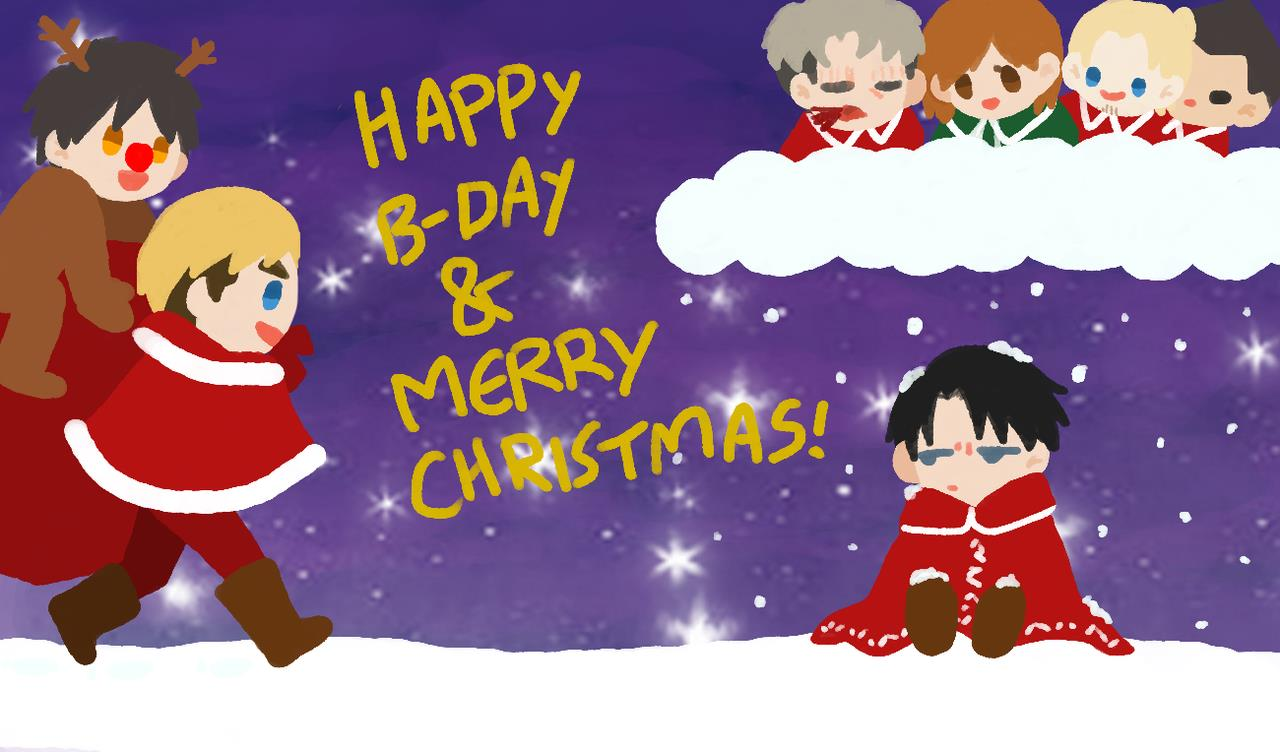 happy birthday merry christmas clip art ; birthday-and-merry-christmashuhoop-on-deviantart-regarding-happy-birthday-and-merry-christmas