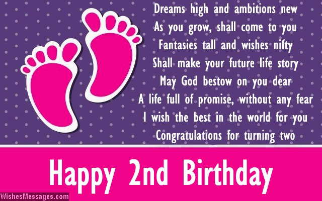happy birthday message for 2 year old ; 2nd-birthday-card-message-for-baby