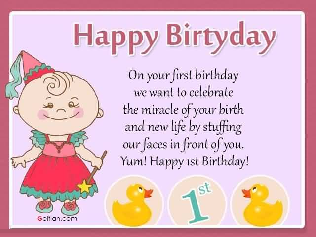 happy birthday message for kid girl ; 1st-Birthday-Wishes-For-A-Sweet-Baby-Girl