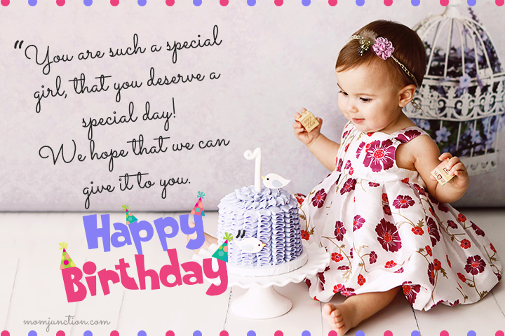 happy birthday message for kid girl ; 1st-Birthday-Wishes-For-Daughter